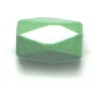 Magnetic Hexagon Diamond Cut 6X8mm 16in Strand Dyed Green